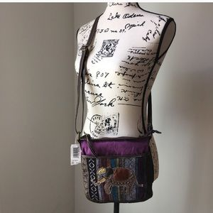 Handbags - NWT boho elephant crossbody bag